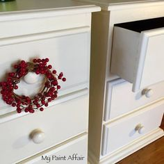 Old White chalk paint over baltic pine.  Beautiful transformation.   Find me on Facebook...  My Paint Affair www.facebook.com/mypaintaffair