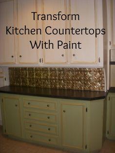 Peindre les comptoirs de cuisine