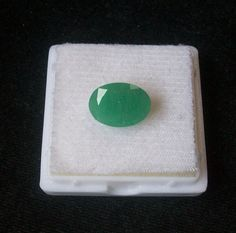 10x14 mm Natural genuine EMERALD oval faceted top cut by GEMSDEAL
