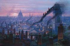 Smoke Staircase by Peter Ellenshaw