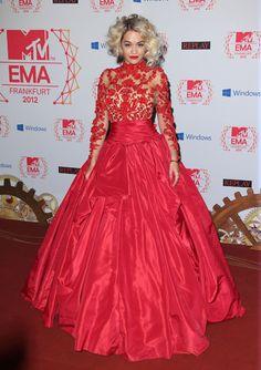 Rita Ora In Marchesa – 2012 MTV EMAs