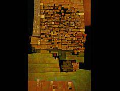 Gunter Gerzso | Gunther Gerzso. Estructuras antiguas , 1955, Óleo sobre madera ...