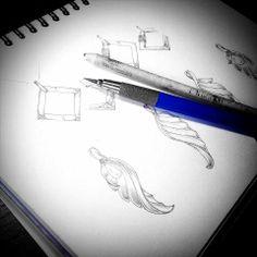 Drawing , Jewelry Design jewelry studio Misabou http://misa-bou.com
