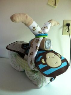 Motorcycle Diaper Cake