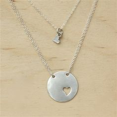 Piece Of My Heart Necklace...Adorable Mother-daughter necklace. I so want to buy this for me and Kenzie!!