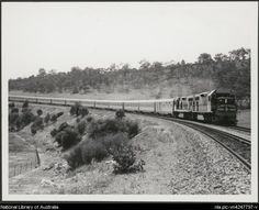 The Indian-Pacific in Avon Valley near Perth, Western Australia 1970