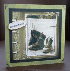 going hiking with those boots on Craftsuprint designed by Angela Wake - made by Jayne Jones -