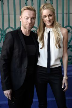 Pin for Later: Celebrities Were Sitting Pretty in the London Fashion Week Front Row Ronan Keating and Storm Uechtritz The pair were a surprise addition to the Julien Macdonald show.