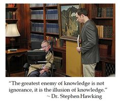 Stephen Hawking on knowledge #quotes