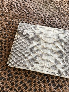 #MichaelLouis card holder style #ClassicCardHolder shown in natural python grade 1 leather with blind debossed signature logo. - www.MichaelLouis.com -  Classic Card Holder | #MichaelLouis