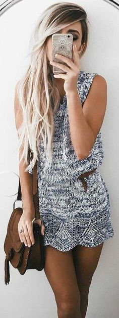 #summer #girly #outfits | Grey Knit Dress