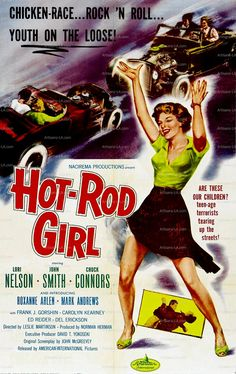Hot Rod Girl Lori Nelson 1956 Movie Poster Download by nukes, $1.00