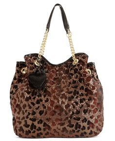 Betsey Johnson Handbag, Key Item Tote in cheetah print