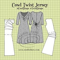 Pattern Fundamentals - Cowl Twist Jersey