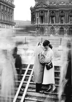 "vintagegal: "" Robert Doisneau- Le Baiser de l'Opera, 1950 (via) """