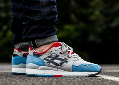 Asics Gel Lyte III Shoes - Soft Grey/Dark Grey