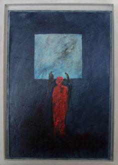 """ingelijst blaadje uit mijn schildersdagboek verdwenen tijd. """"daar sta je dan....."""""""