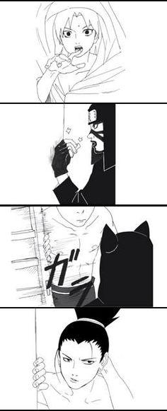 Shikamaru and Temari fan comic. Page 6.