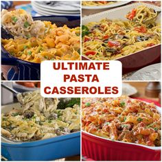 Whether you're a fan of ground beef casseroles or chicken casseroles, tuna casseroles, or vegetarian casseroles, there's something for everyone in this amazing pasta casserole collection!