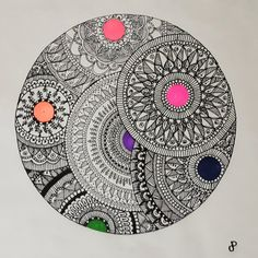 Easy Mandala Drawing, Mandala Sketch, Watercolor Mandala, Mandala Doodle, Mandala Art Lesson, Doodle Art Drawing, Mandala Artwork, Mandala Painting, Mandala On Canvas