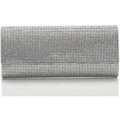 Judith Leiber Couture Ritz Fizz Crystal Clutch Bag (19.395 DKK) ❤ liked on Polyvore featuring bags, handbags, clutches, judith leiber, silver rhine, flap purse, crystal purse, handbag purse and hand bags
