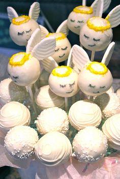 Angel cake pops