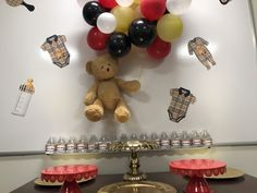 Burberry Baby Shower Baby Shower Winter, Baby Shower Themes, Burberry, Graduation, Birthday, Party, Birthdays, Moving On, Parties