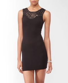 Open Weave Bodycon Dress (Black). Forever 21. $19.80