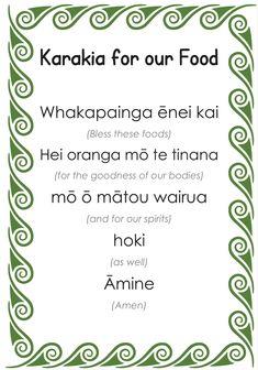 Prayers Before Meals, Food Prayer, Paper Butterfly Crafts, Maori Words, Miss Kelly, Maori Designs, Unusual Words, In Writing, Esl