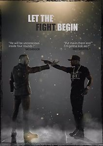 "Conor McGregor VS Floyd Mayweather Boxing Match Fight Poster Fight Card Art Print Size 13x20"" 24x36"" 32x48"""
