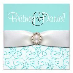 Shop Blue Wedding Invitations created by natureprints. Personalize it with photos & text or purchase as is! Romantic Weddings, Elegant Wedding, Dream Wedding, Mint Weddings, Azul Tiffany, Tiffany Blue, Tiffany Theme, Blue Wedding Invitations, Custom Invitations