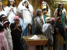 Gearing up for Christmas! Children from the Miracle School perform the nativity.
