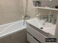 Дизайн Ванной в Хрущевке: 79 реальных фото и 7 правил ремонта Space Saving Bathroom, Bathtub, Furniture, Standing Bath, Bath Tub, Home Furnishings, Bathtubs, Arredamento, Tub