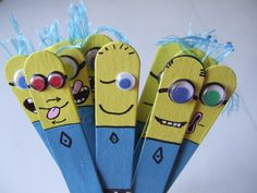 les praxies : Ohhh, les mignons !!! Craft Stick Crafts, Diy And Crafts, Minion S, Oral Motor, Happy B Day, Speech And Language, Speech Therapy, School Projects, Creations