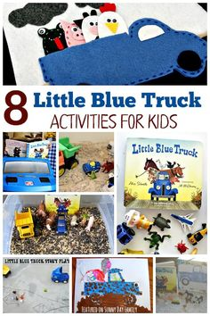 Love Little Blue Truck? Try these 8 Little Blue Truck activities for kids! Includes crafts, sensory play, and storytelling activities inspired by Little Blue Truck.