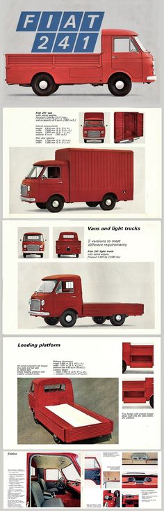1970 Fiat 241 Pickup Truck Brochure Iveco, Pickup Trucks, Buses, Sketching, Automobile, Vans, Vehicles, Vans Classics, Transportation