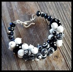 Black and White Striped Crystals and Stones by LangFamilyJewelry
