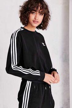 adidas Originals 3-Stripe Chiffon Pullover Sweatshirt