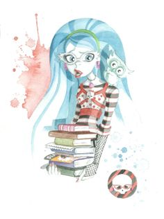 Monster High art print  Ghoulia Yelps by JAWart on Etsy, $12.00