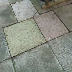 Someone power washed the patio yesterday. We have a green paving slab! Paving Slabs, Pressure Washing, Tile Floor, Patio, Instagram Posts, Green, Terrace, Outdoor Pavers, Porch