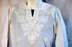 Gift for husband Mens embroidered tunic short shirt Long sleeved t shirt kurta… Short Shirts, Long Sleeve Shirts, Embroidered Tunic, Gifts For Husband, Plus Size, Trending Outfits, Blouse, Sweaters, Etsy