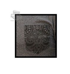 Harley-Davidson Mens B&S with Willie G Skull Border Pocket Charcoal Short Sleeve T-Shirt - LG