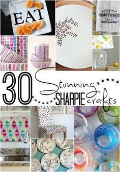 30 Stunning Home Decor Sharpie Crafts. Living within a budget does not mean you have to live without style. Click now!