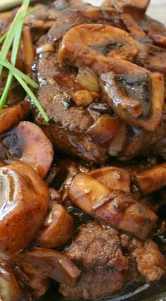 Steak with Balsamic Mushroom Sauce ~ Delicious... The sauce is heavenly!