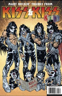 """""""Here is the cover for the upcoming KISS KIDS issue Eric Singer, Banda Kiss, Kiss Group, Kiss World, Rock Band Posters, Heavy Metal Art, Kiss Art, Kiss Pictures, Band Wallpapers"""