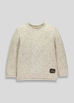 Knitwear is essential for your little boy's winter wardrobe, especially when it is as cute as this. Beat the chill with this oatmeal coloured jumper,...