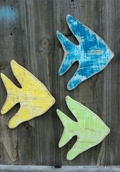 Wooden Angel Fish, Beach House Style, Coastal Decor, YOU CHOOSE COLOR on Etsy, $15.00