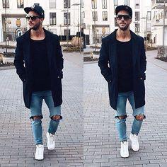 Calça Jeans Rasgada  Men Style www.wmfeed.me