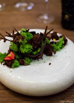 Dessert at Michelin star restaurant Costes Downtown in Budapest