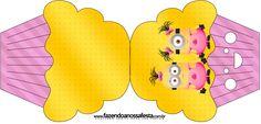 Convite Cupcake Minions para Meninas